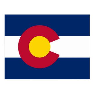 Postkarte mit Flagge von Colorado-Staat - USA