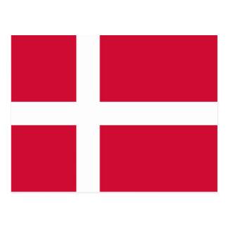 Postkarte mit Flagge von Dänemark
