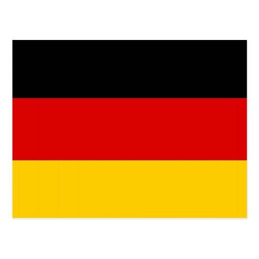 postkarte mit flagge von deutschland zazzle. Black Bedroom Furniture Sets. Home Design Ideas