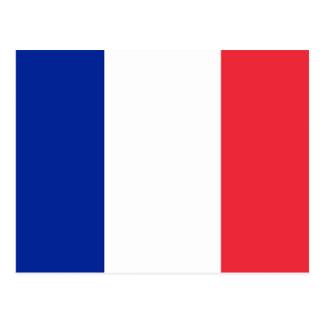 Postkarte mit Flagge von Frankreich