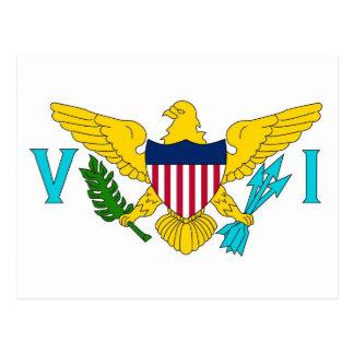Postkarte mit Flagge von Jungfrau-Inseln USA