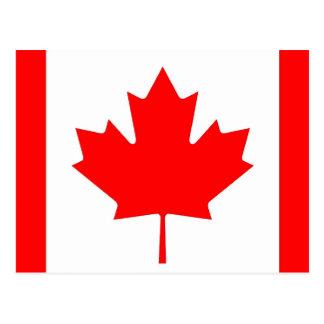 Postkarte mit Flagge von Kanada