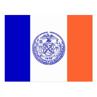 Postkarte mit Flagge von New York City - USA