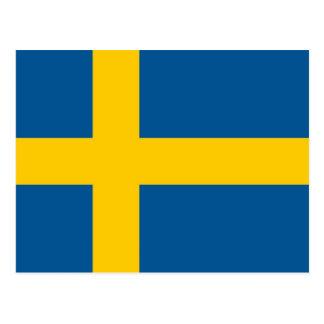 Postkarte mit Flagge von Schweden