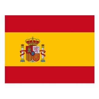 Postkarte mit Flagge von Spanien