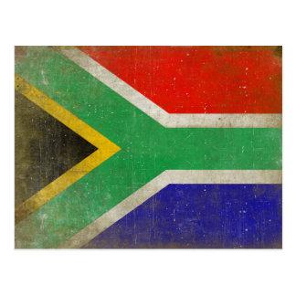 Postkarte mit Flagge von Südafrika