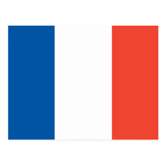 Postkarte mit Frankreich Fahne