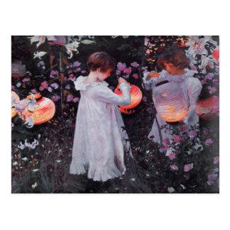 Postkarte mit John Singer Sargent-Malen