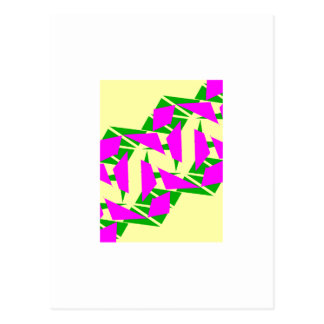 Postkarte mit Magenta-und Gelb-Entwurf