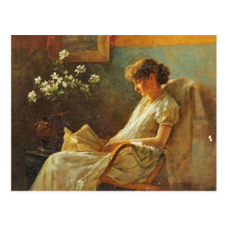 Postkarte mit Malerei Eva Dora Cowdery