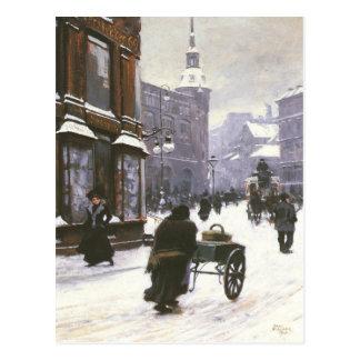 Postkarte mit Malerei Pauls Gustave Fischer