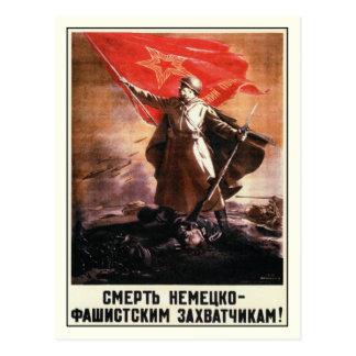 Postkarte mit russischem WWII Propaganda-Druck
