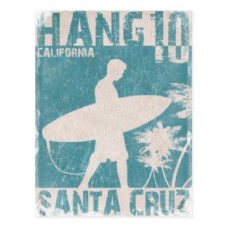 Postkarte mit Santa- CruzSurfer-Druck