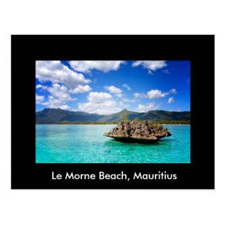 Postkarte mit Strand von Mauritius-Thema