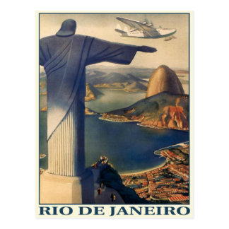 Postkarte mit Vintagem Rio- de Janeirodruck