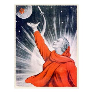 Postkarte mit Vintagem UDSSR-Propaganda-Druck
