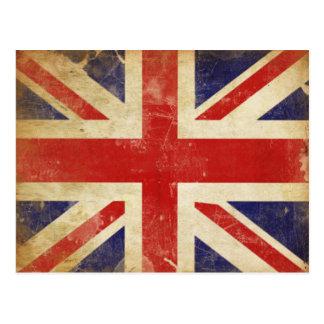 Postkarte mit Vintager Großbritannien-Flagge