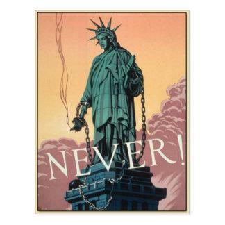 Postkarte mit Vintager Propaganda des Amerikaner-W