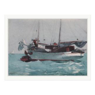 Postkarte mit Winslow Homer-Malen