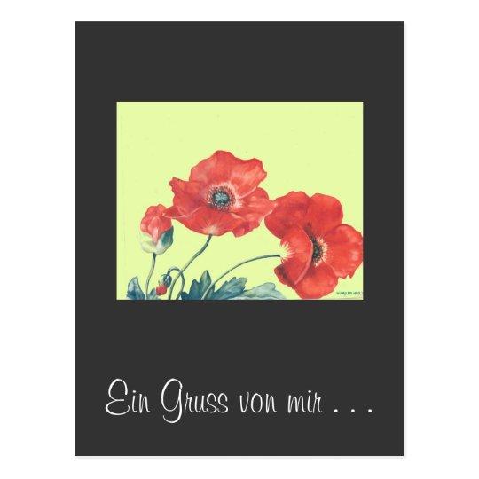 postkarte Mohnblumen