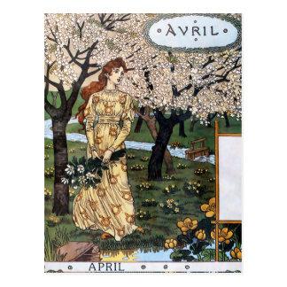 Postkarte: Monat von Aril - Avril Postkarte