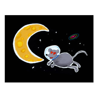 Postkarte - Mouse In Space