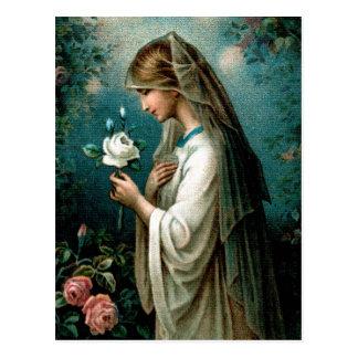Postkarte: Mystische Rose Postkarte
