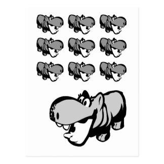 Postkarte - niedliches Flusspferd - Nilpferd 6