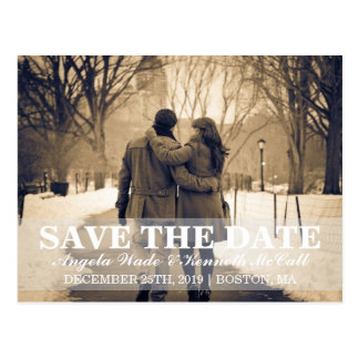 Postkarte - Paar Save the Date