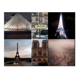 Postkarte Paris Frankreich Multiview