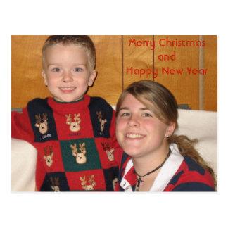 Postkarte photo1, fröhliches ChristmasandHappy