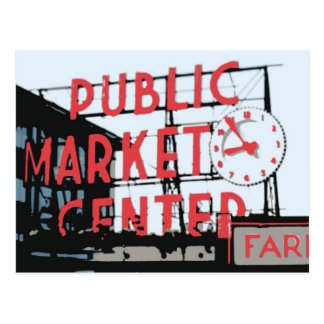 Postkarte - Pike-Platz-Markt