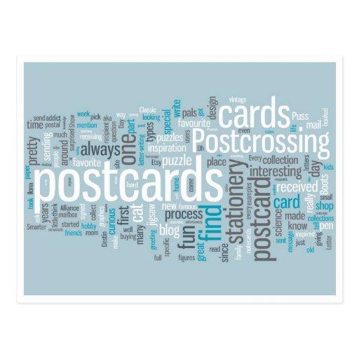 """Postkarte """"Postcrossing Blau """""""