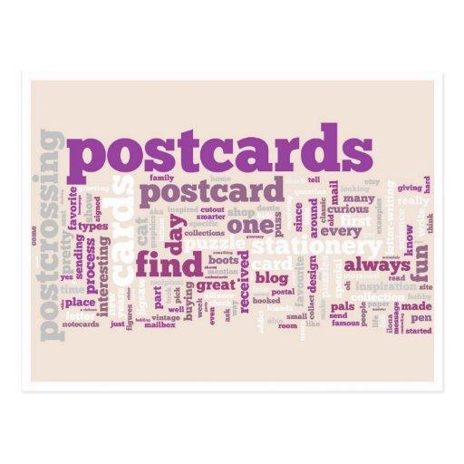 "Postkarte ""Postcrossing lila """