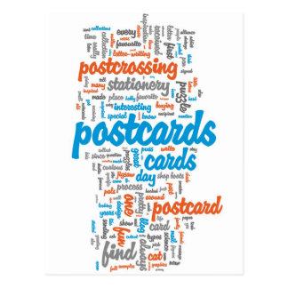 "Postkarte ""Postcrossing Rot """
