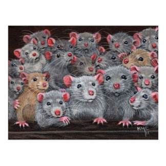 Postkarte Ratten Rattie Wiedersehen-2