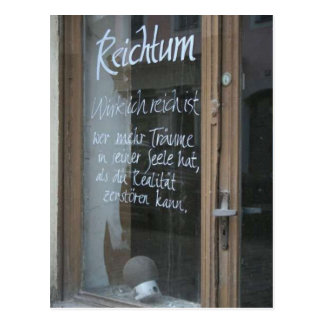 """Postkarte """"Reichtum"""""""