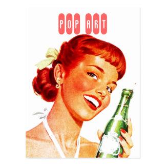 Postkarte Retro stilvolle Gallone mit Soda