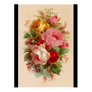 Postkarte - Rosen-Blumenstrauß
