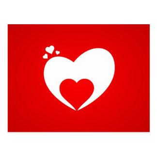 Postkarte rot Herz