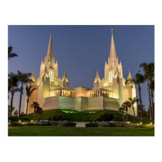 Postkarte: San Diego LDS Tempel-Abendsbild Postkarte