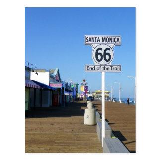 Postkarte Santa Monica Weg-66!