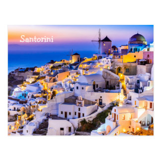 Postkarte Santorini Griechenland