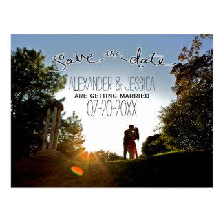 Postkarte Save the Date mit Fotohintergrund