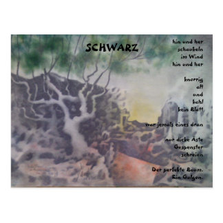 Postkarte - Schwarz