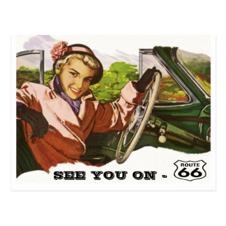Postkarte sehen Sie auf Weg 66 - Retro Autoreise