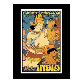 Postkarte: Sehen Sie Indien Postkarte