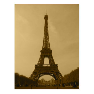 Postkarte Sepia Vorderansicht des Eiffelturms