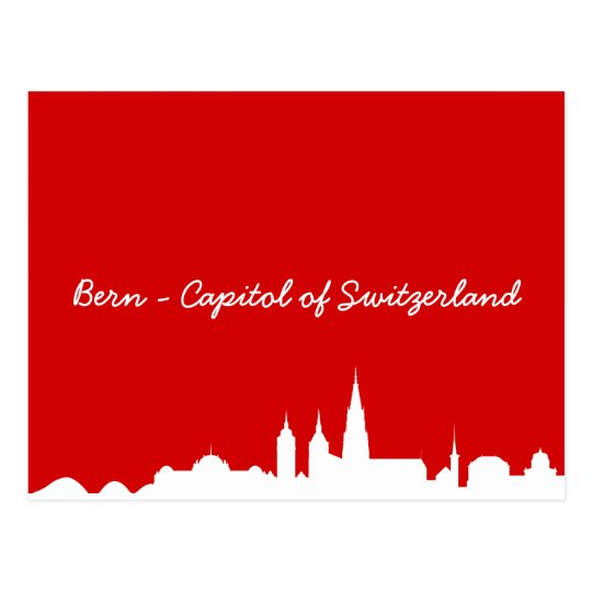 Postkarte Skyline Bern