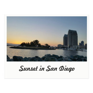 Postkarte - Sonnenuntergang in San Diego